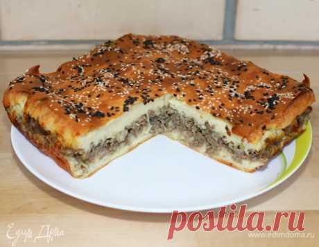 Мясной пирог «Беляш», пошаговый рецепт на 2413 ккал, фото, ингредиенты - Елена Мишенина