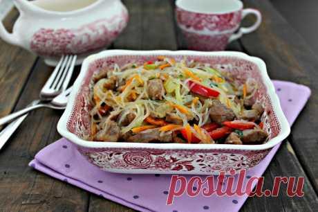 Фунчоза с мясом рецепт с фото пошагово - 1000.menu