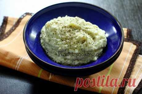 Пюре з цвітної капусти з сиром | Picantecooking