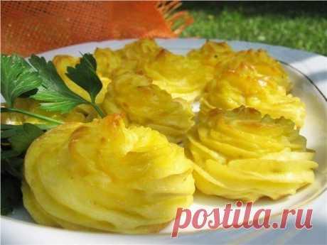 Как приготовить картофельные розочки герцогиня - рецепт, ингредиенты и фотографии