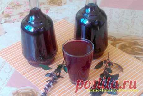 напиток из листьев базилика с медом