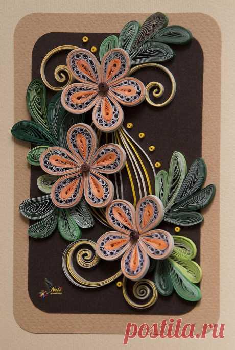 «Neli Quilling Art: Quilling card - flowers quilling Pinteres» — карточка пользователя Алла А. в Яндекс.Коллекциях