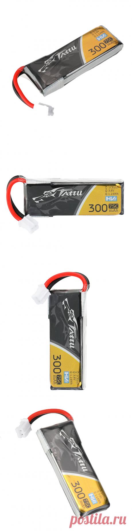 tattu 3.8v 300mah 75c 1s ph2.0 plug lipo battery for for happymodel mobula6 eachine trashcan snapper6 7 mobula7 Sale - Banggood.com