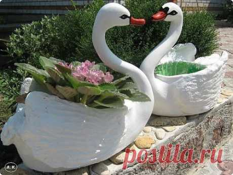 Лебедь - кашпо