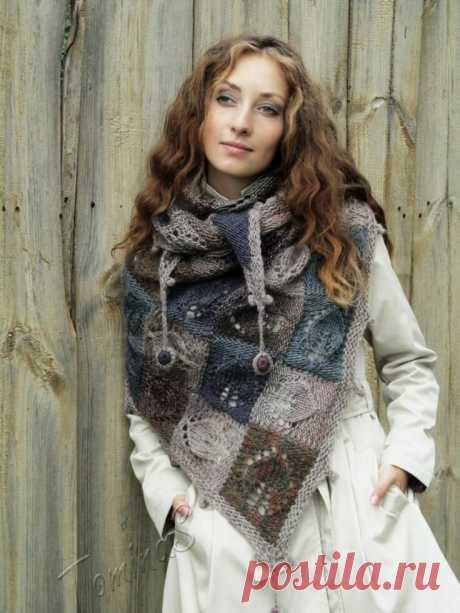 Тёплые, уютные и загадочные: 7 вязаных шалей со схемами | Только handmade | Яндекс Дзен