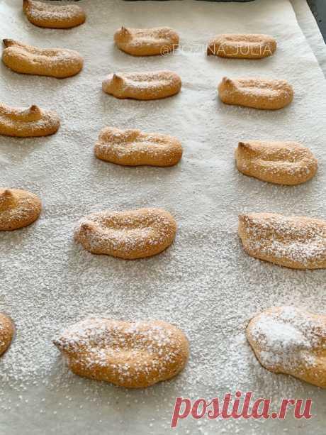 Готовим сами печенье, которое в магазинах стоит по 800 рублей за кг: рецепт савоярди   Сладкий Персик 🍑   Яндекс Дзен