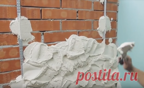Как оштукатурить кирпичную стену своими руками