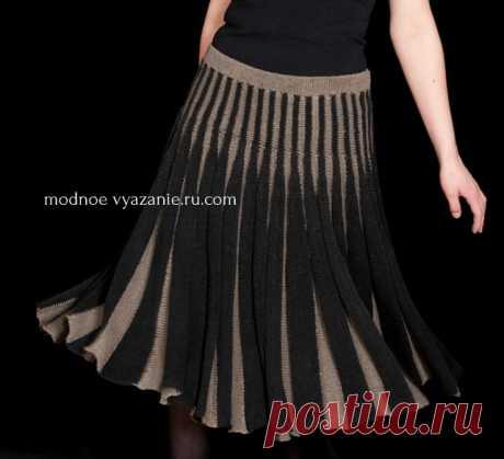 Skirts knitted spokes across the shortened ranks - Klubok - Modnoe Vyazanie.ru.com