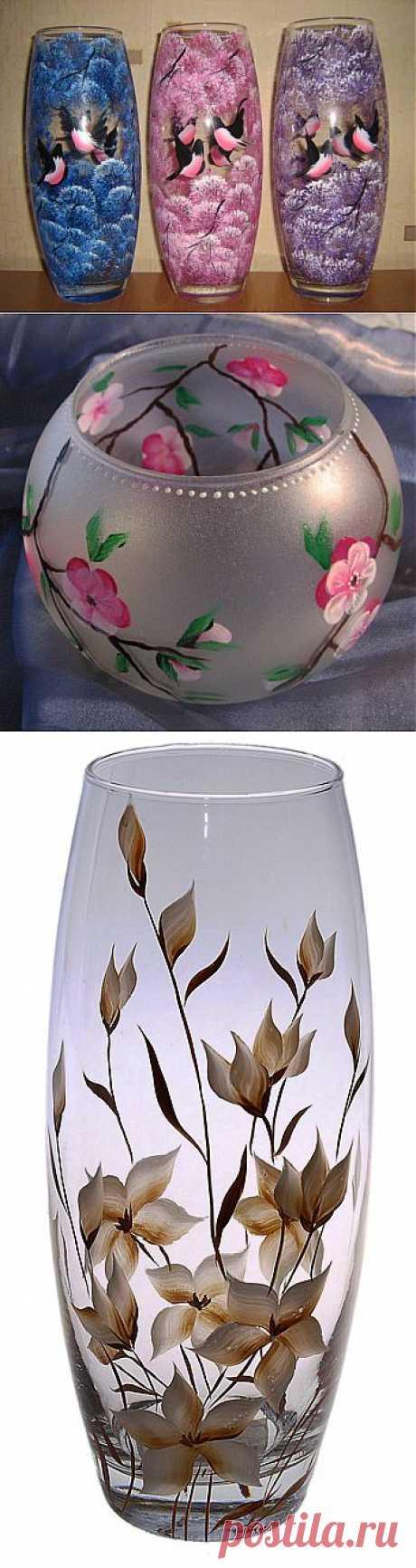 (+1) - la Pintura de los floreros de cristal por las manos | el Interior y el Diseño
