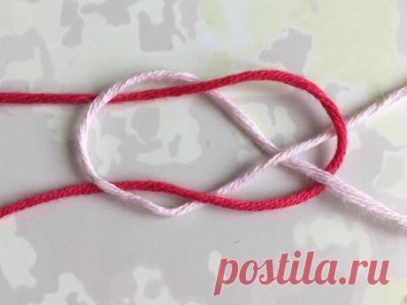 Как незаметно соединить нитки: ткацкий узел