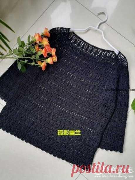 Пуловер крючкомиз японских журналов.Вязание крючком японские модели схемы. Ажурный пуловер крючкомиз японских журналов.Вязание крючком японские модели схемы.