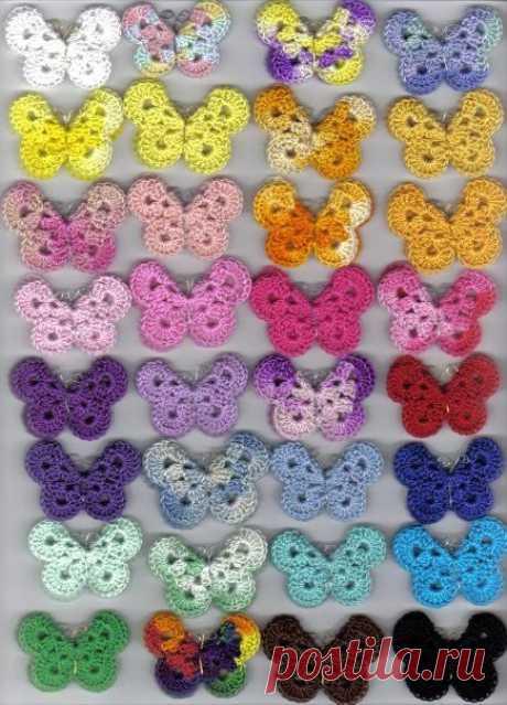 Идея для вязания милой бабочки из категории Интересные идеи – Вязаные идеи, идеи для вязания