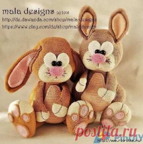 Toy the Rabbit knitted a hook — a lovely creature   my Lovely House - hend meyd ideas of needlework and design