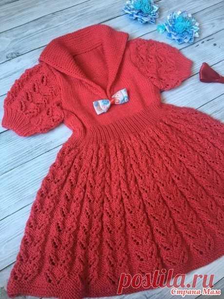 Платье спицами для малышки - Вязание - Страна Мам