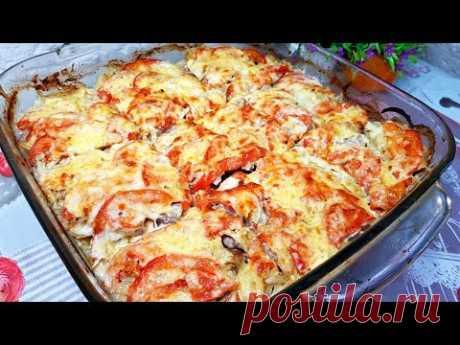 Картофельная ЗАПЕКАНКА с Мясомкартошка - 1.5 кг. соль, перец - по вкусу мясо - 1 кг. (у меня свинина) лук - 2 шт. большых помидор - 2 шт. сметана - 200 мл. горчица - 1 ч.л. горчица в зернах - 1 ст.л. сыр - 200 гр.