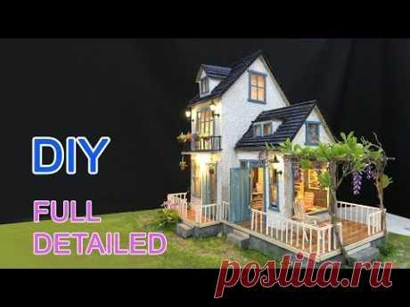 DIY Cardboard House with  Garden - FULL VERSION