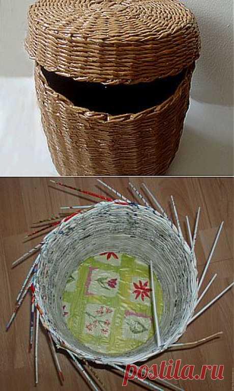 (+1) тема - Плетеный короб с крышкой. Мастер-класс Татьяны Ростопчиной | Очумелые ручки