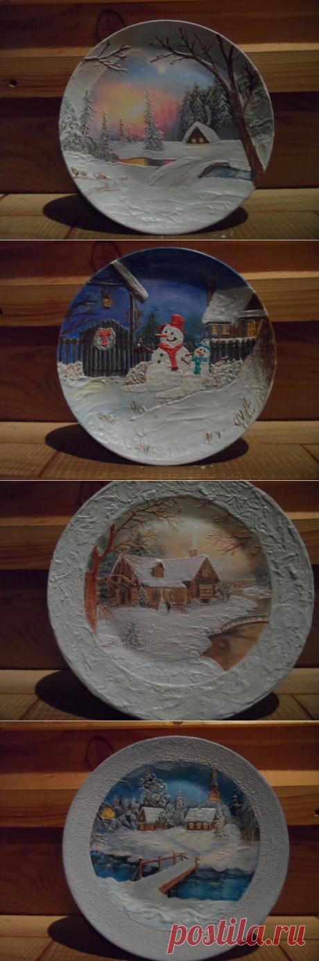 Декупаж: пейзажи зимы » ProstoDelkino.com - поделки своими руками.