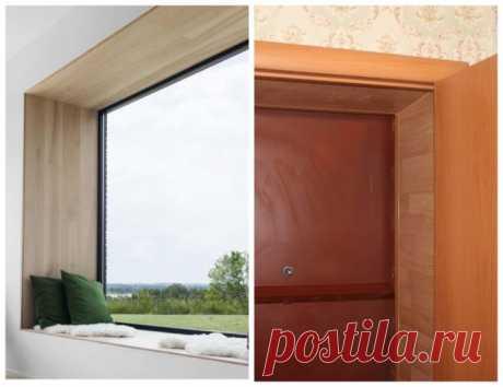 Откосы из ламината: плюсы и минусы, установка своими руками на окна и входные двери