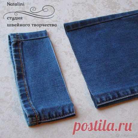[Шитье] Как укоротить джинсы с сохранением вареного края. Мастер-класс