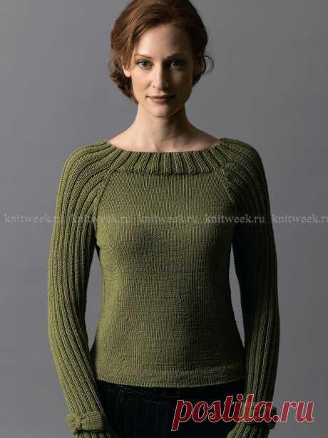 Пуловер с рукавом реглан и бабочками