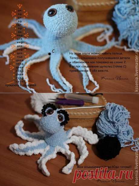 Плюшевые осьминожки - Ярмарка Мастеров - ручная работа, handmade