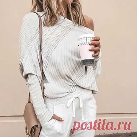 Женский свитер с горизонтальной горловиной, сексуальный модный льняной свитер с рукавом реглан и цветком, женский свободный пуловер, Женский Топ |Водолазки| Детские жаккарды| роспись по ткани | готовые выкройки |