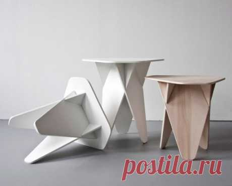 Stool from plywood the hands