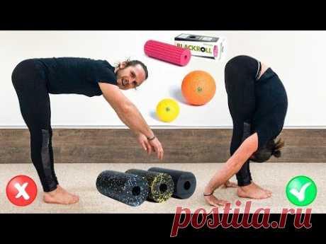 Как улучшить наклон вперёд и стать гибче 🤸 Миофасциальный релиз (МФР) для ног и спины ⭐ SLAVYOGA