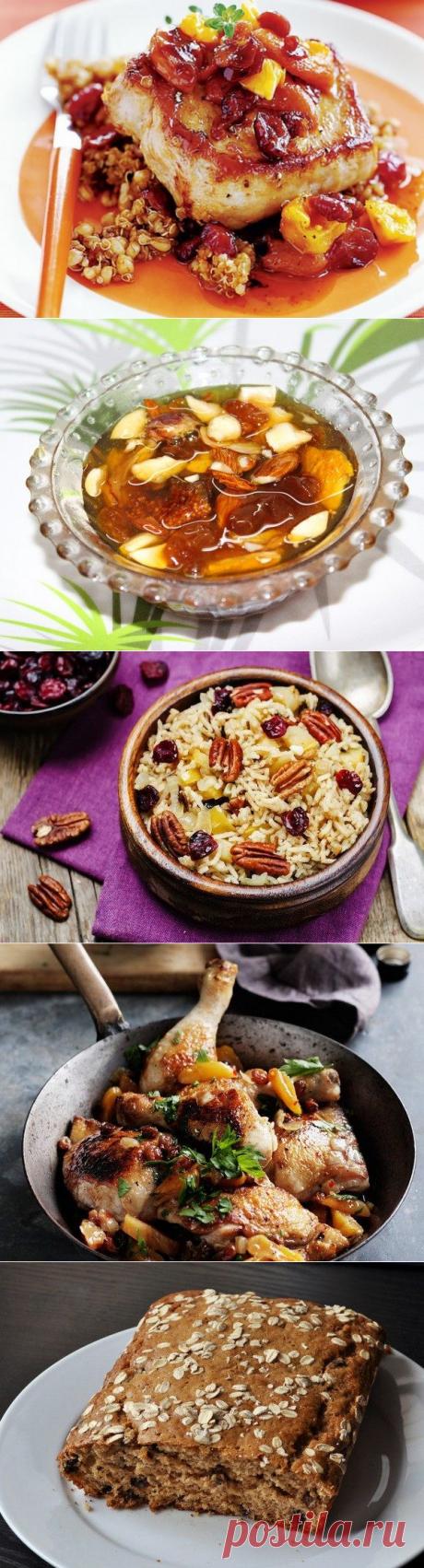 5 platos de las frutas secas
