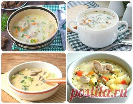 Сырный суп с плавленным сыром. 5 рецептов