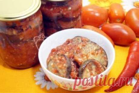 Баклажаны «Огонёк» на зиму Баклажаны «Огонёк», это острая закуска из баклажанов с томатной заливкой, специально для любителей остренького. Время приготовления 1 час Ингредиенты: Баклажан1 кг Помидор1 кг Болгарский перец1 кг Острый перец2-3 шт Головка чеснока1 шт Соль1 ст...