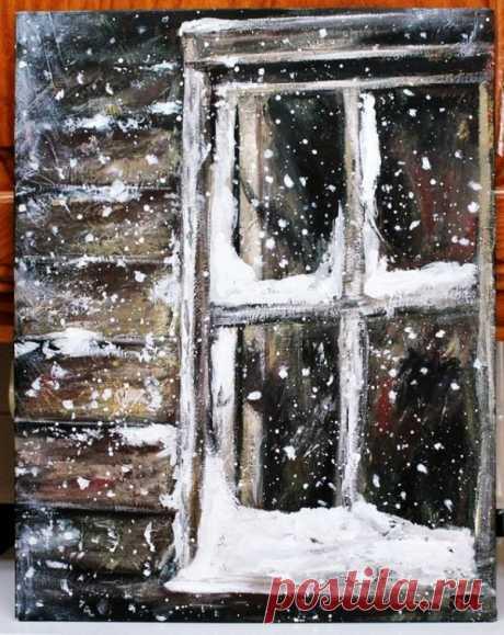 Original-Winter-Paintings-on-Canvas-1.jpg (600×755)