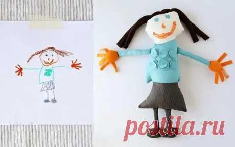 Как сшить игрушки по детским рисункам: 3 мастер-класса - Сам себе мастер - медиаплатформа МирТесен