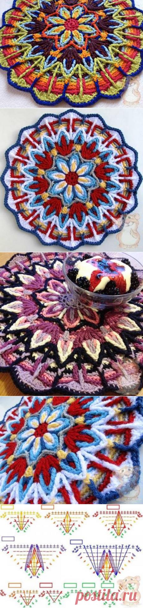 Техника Overlay Crochet или вязаная крючком мандала - модели, схемы, описания - Форум о вязании спицами и крючком