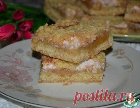 Тёртое пирожное с белково-грушевым кремом – кулинарный рецепт