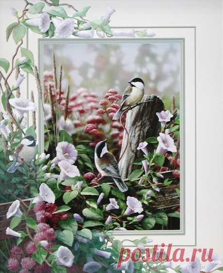 Bradley Jackson.Птички и цветы