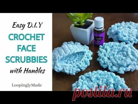 The Best Crochet Face Scrubbies with Handles