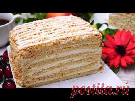 """Торт Лентяйским способом за 30 минут вместе с выпечкой. Торт """"Молочная девочка"""""""