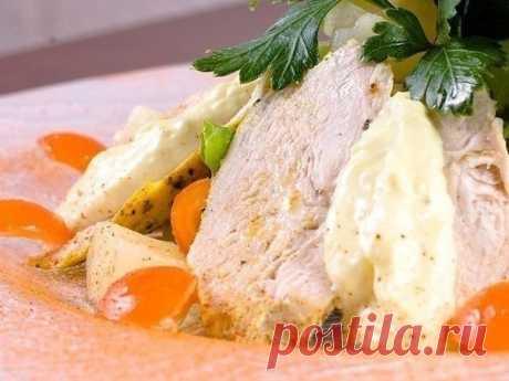 Куриные грудки по особой технологии. Мясо получается сочное, вкусное, больше похожее на ветчину, чем на курицу.