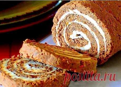 Рулет из печени с луком, морковью и плавленым сыром - Kulinarnyj-Recept.��