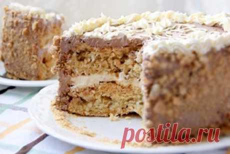 Настоящий Киевский торт. Обалденная штука! Представляем вашему вниманию рецепт самого популярного фабричного торта. При этом он очень легко готовится и безумно вкусным получается. Нужные ингредиенты Для песочного теста 2 желтка 180 гр сахарного песка 150 …