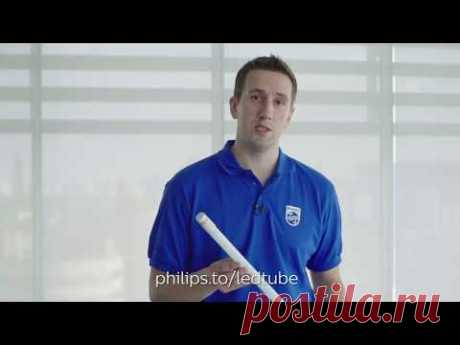 Установка светодиодных ламп Philips LEDtube