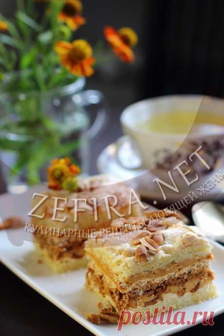 Песочный торт с арахисом и сгущенкой-домашние рецепты с фото