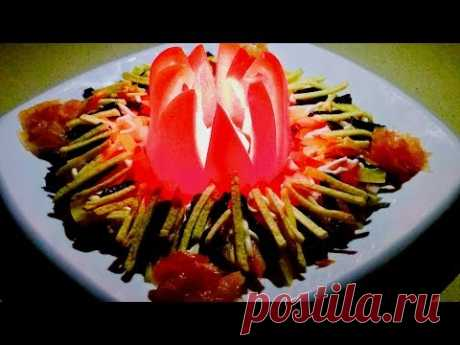 Фантастический праздничный салат. Все будут в восторге. Рецепты салатов. Это вкусно!