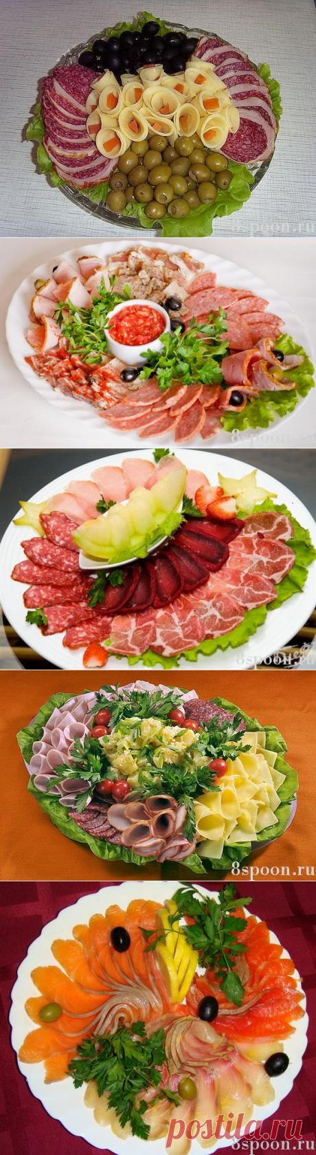Красивая мясная нарезка: идеи, фото, примеры оформления и подачи - 8 Ложек