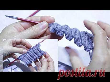 Эластичный набор петель спицами / Самый простой и лёгкий способ
