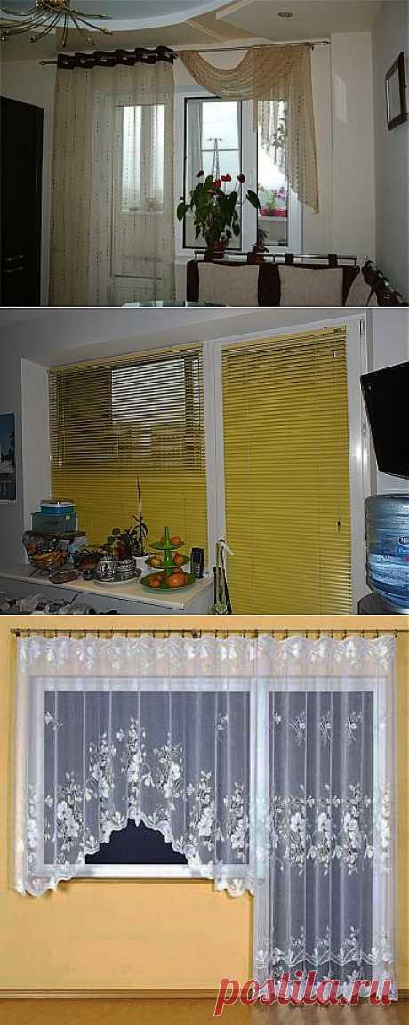 Шторы для кухни с балконной дверью - полезные советы.