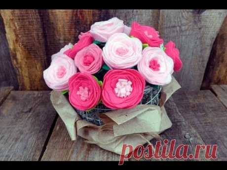 Цветы из фетра. Мастер-классы на Подарки.ру