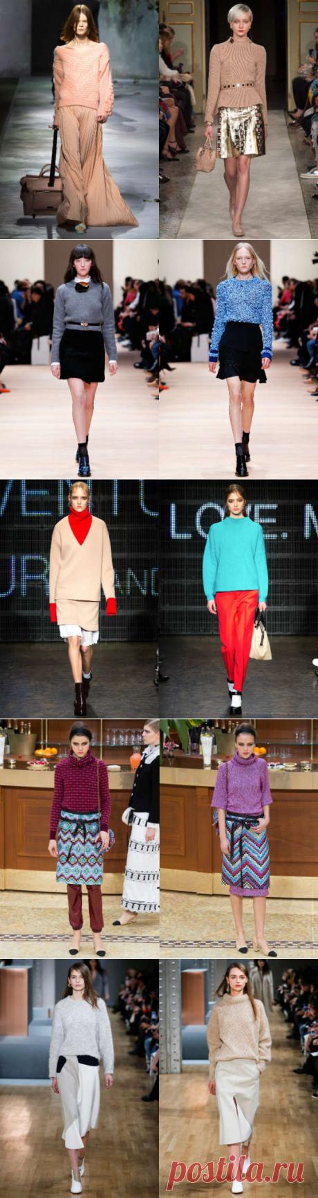Модные вязаные свитера осень-зима 2015-2016: полный обзор - Ladiesvenue цвета